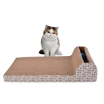 LITTHING - Rascador para Gatos, Almohadilla de cartón con Textura, cartón Ondulado, para Mascotas, Gatos, Gatos, Juguete raspador multifunción: Amazon.es: ...