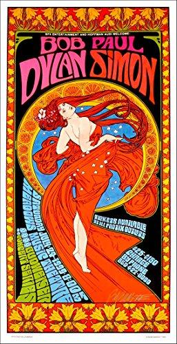 Bob Dylan Paul Simon Tour Poster The Meadows 1999 Original Signed by Bob Ma - Paul Simon Signed