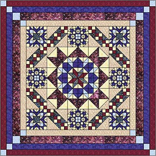 Quilt Kit Hexagon Stars, Patriotic/Queen by Material Maven