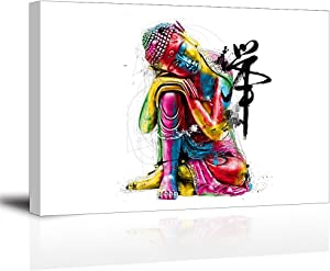 Piy Painting Wall Art for Bedroom, Chinese Canvas Prints Decor (Waterproof Artwork, Ready to Hang, 24x36)
