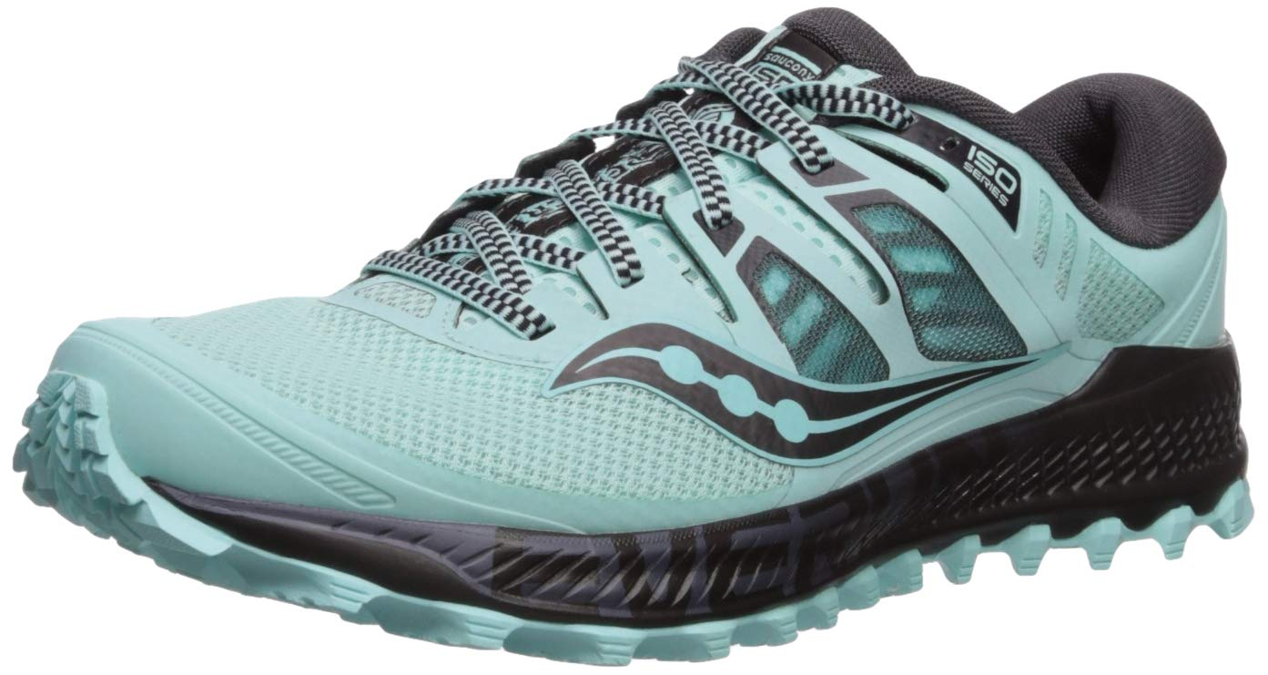 Saucony Women's Peregrine ISO Trail Running Shoe Aqua/Grey 5.5 M US by Saucony (Image #1)