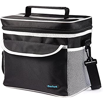 Insulated Lunch Cooler Bag Large Lunch Box Tote for Women Men Adults Kids by Cosfash