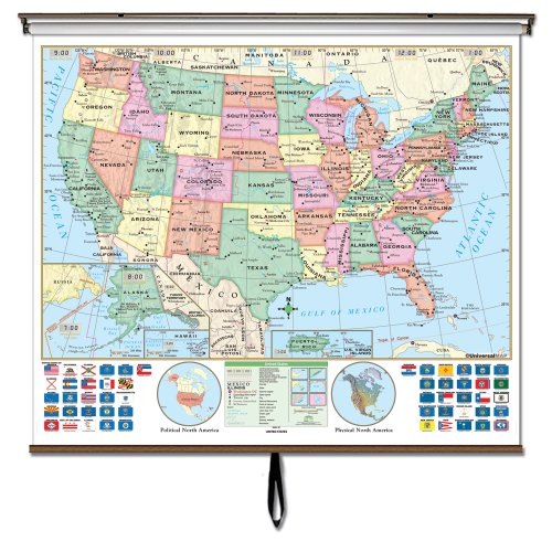 U.S. Essential Wall Map W/Backboard (Essential Classroom Wall Maps)