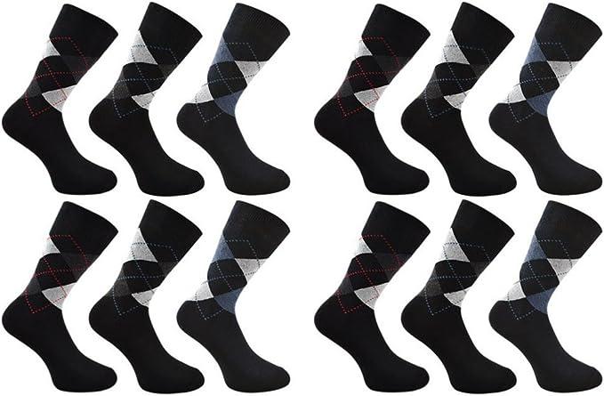 6 /& 3 Pairs Men Smart Formal Dress Suit Design Quality Cotton Design Size 6-11UK
