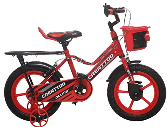 Ollmii Bikes 14 inches Red Unisex Kids Cycle for 3 to 5 Years