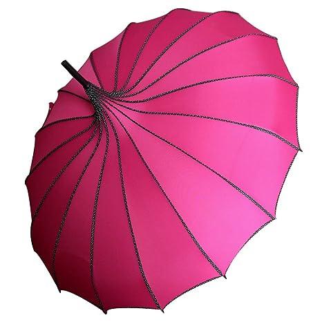 Guoke Pagodas, Soleado Personalidad Paraguas 16 Hueso Largo Mango, Aumentar La Creatividad Femenina,
