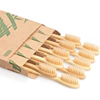 Biodegradable Reusable Bamboo Toothbrushes, LMVH Wooden Toothbrushes Organic Natural Eco-Friendly BPA Free Bristles - 10…