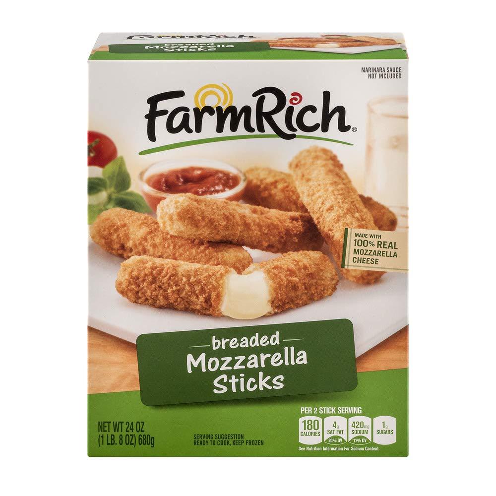 FARM RICH MOZZARELLA STICKS BREADED 24 OZ PACK OF 2
