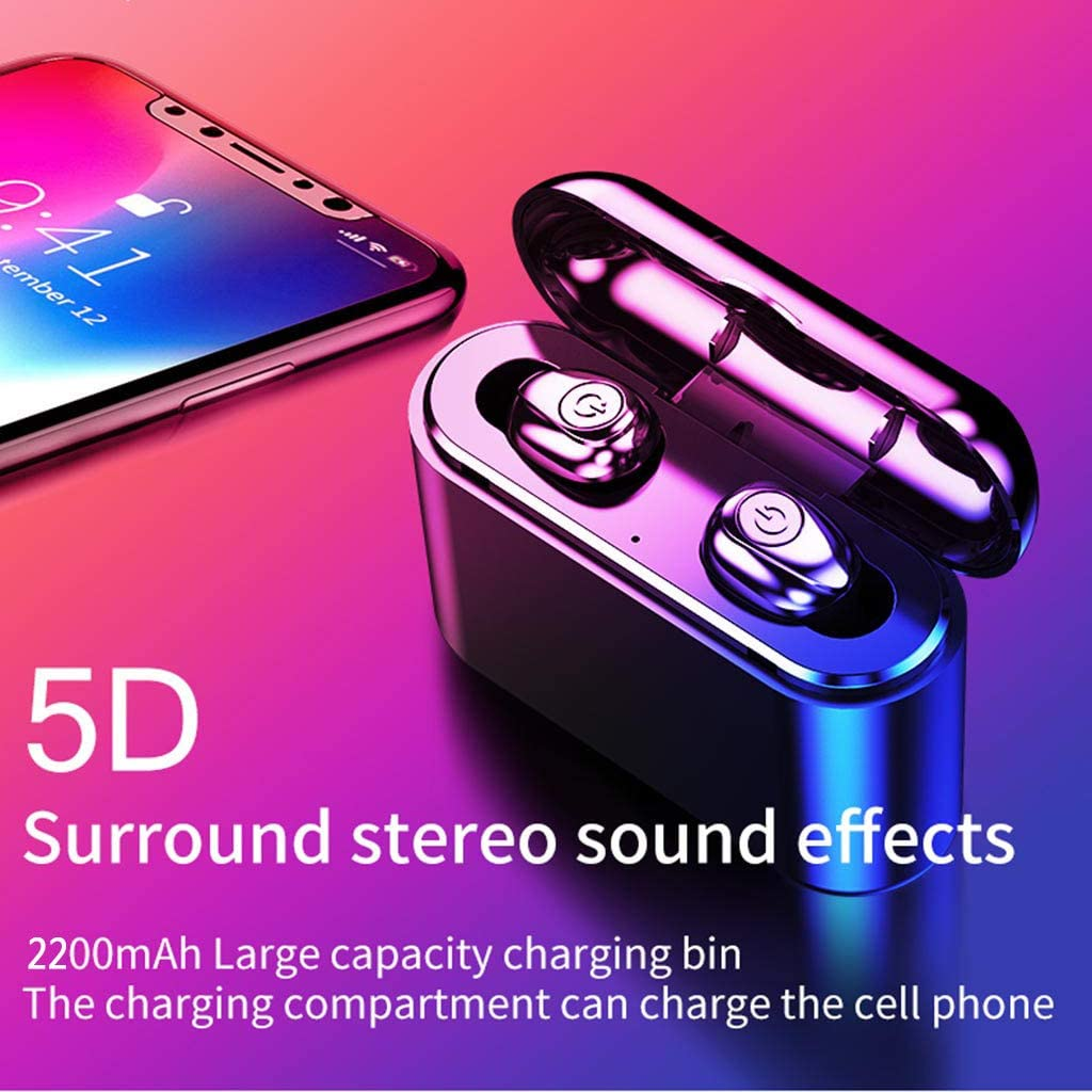 HHmei Bluetooth 5.0 Headset TWS Wireless Earphones Mini Earbuds Stereo Headphones X8S Bluetooth 5.0 Wireless Headset