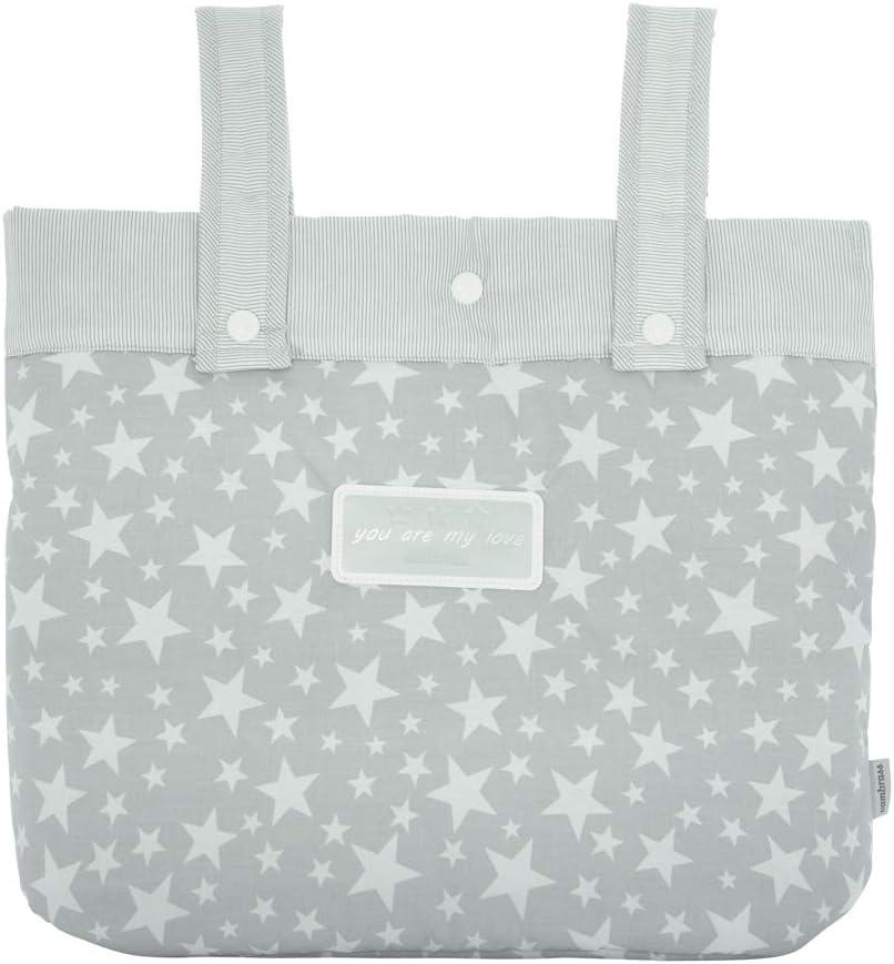 Cambrass Star - Bolso maternal panadera para carro bebe, color gris