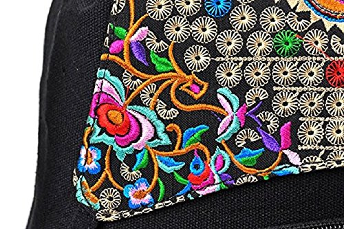 National Style Embroidery Flower Cabvas viaggio zaino