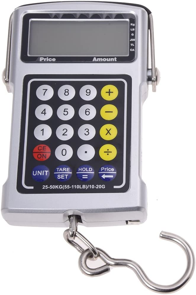 Vaorwne 50 kg 7-in-1 Function Digital LCD Electronic Scale Silver