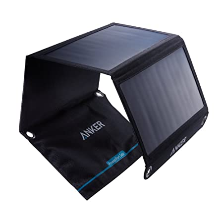 side facing anker 21w dual usb portable solar chargers