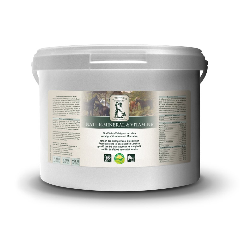 Mühldorfer MultiVital plastique pour chevaux, renforce la résistance, naturel-& Vitamines Minéral Mühldorfer Nutrition AG 2080