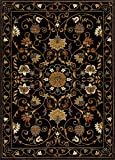Mod-Arte | Crown Collection | Area Rug | Contemporary & Traditional | Black Floral | 5'2″ x 7'2″