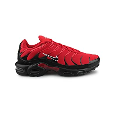 334c0784bcc Nike Men s Air Max Plus Red Black White Leather Casual Shoes 8 ...