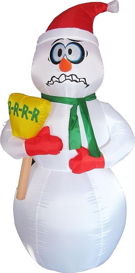 Muñeco de Nieve Inflable - 180 cm - INTERHOME©: Amazon.es: Hogar