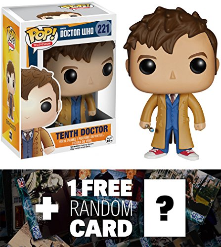 Tenth Doctor: Funko POP! x Doctor Who Vinyl Figure + 1 FREE Official Dr Who Trading Card Bundle [46279]