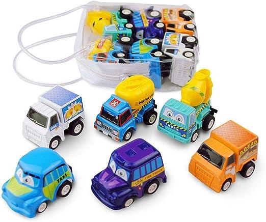 mymotto 6pcs Kid Mini Cars Toys Niños Inercia Pull Back