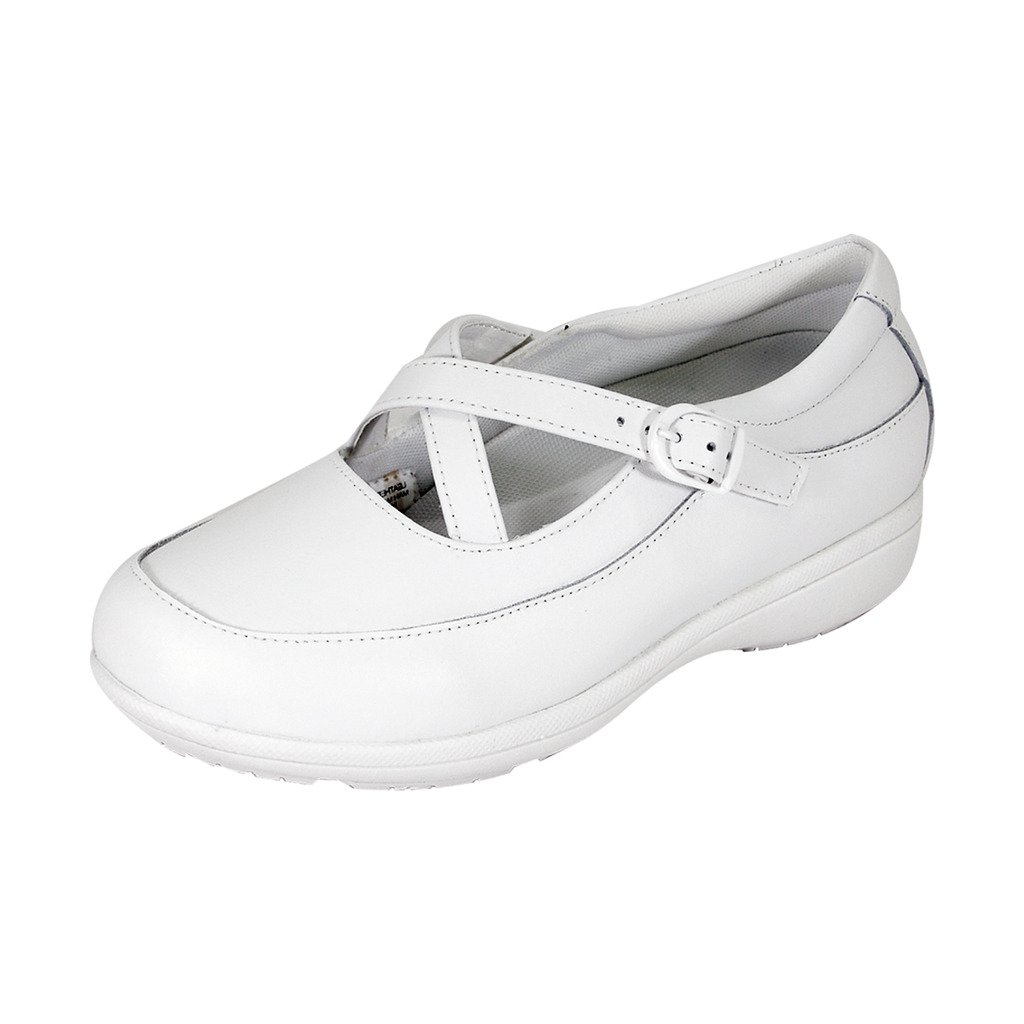 24 Hour Comfort Susan Women Wide Width Criss-Cross Straps Casual Step-in Shoes White 8.5 by 24 Hour Comfort