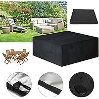 AAHIX Muebles de jardín al Aire Libre Cubierta Impermeable Muebles sofá Lluvia Polvo Cubierta de Mimbre Conjunto de Tela de Tela de protección Silla Cubierta a Prueba de Polvo