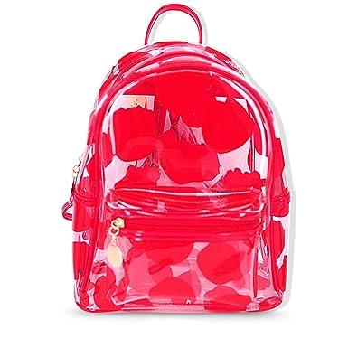 Amazon.com  Teeya PVC Backpack School Backpack Outdoor Backpack Cute  Knapsack Satchel db81ec49e385f