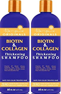 product image for Renpure Biotin and Collagen Shampoo, 16 Ounce from Renpure (Pack of 2)