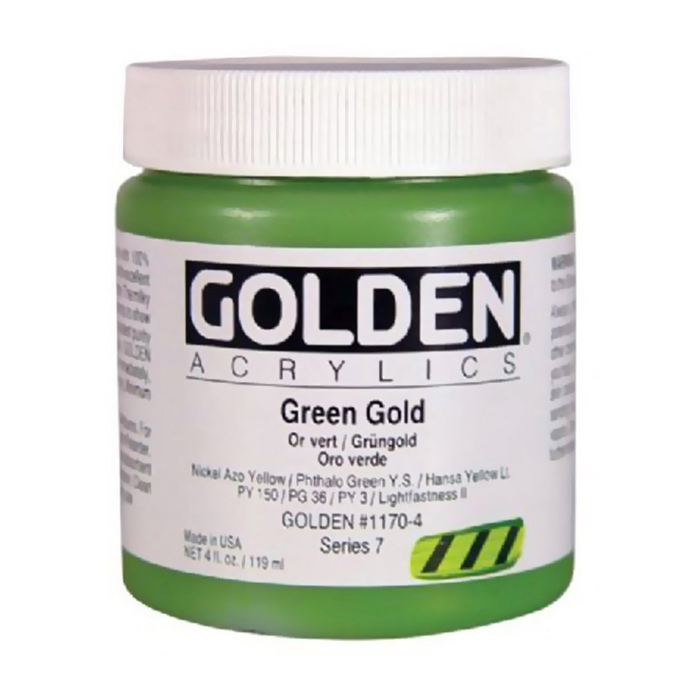 Golden Heavyボディアクリルペイント 4 oz jar グリーン 0001170-4 B0006IJXY0 4 oz jar|Green Gold Green Gold 4 oz jar