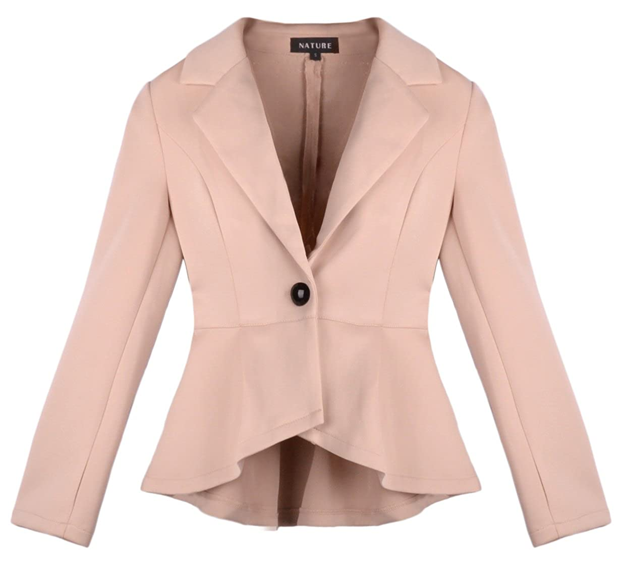 Women's One Button Long Sleeve TOP Slim Jacket Small Suit