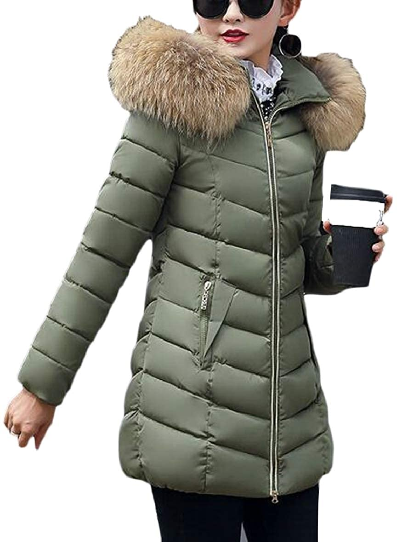 xtsrkbg Womens Solid Color Slim Fit Packable Hooded Long Padded Coat Jacket