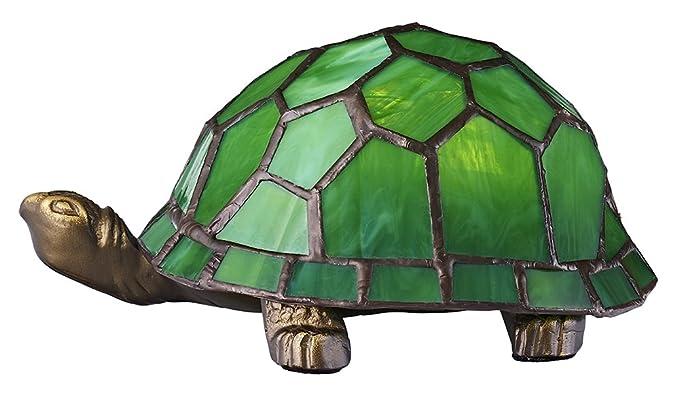 tortoise lighting. Haysoms Hand Crafted Tortoise Tiffany Lamp, Green Lighting