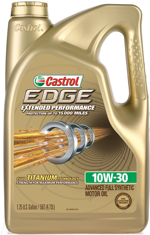 Castrol 03085 EDGE Extended Performance 10W-30 Advanced Full Synthetic Motor Oil, 5 Quart, 3 Pack by Castrol