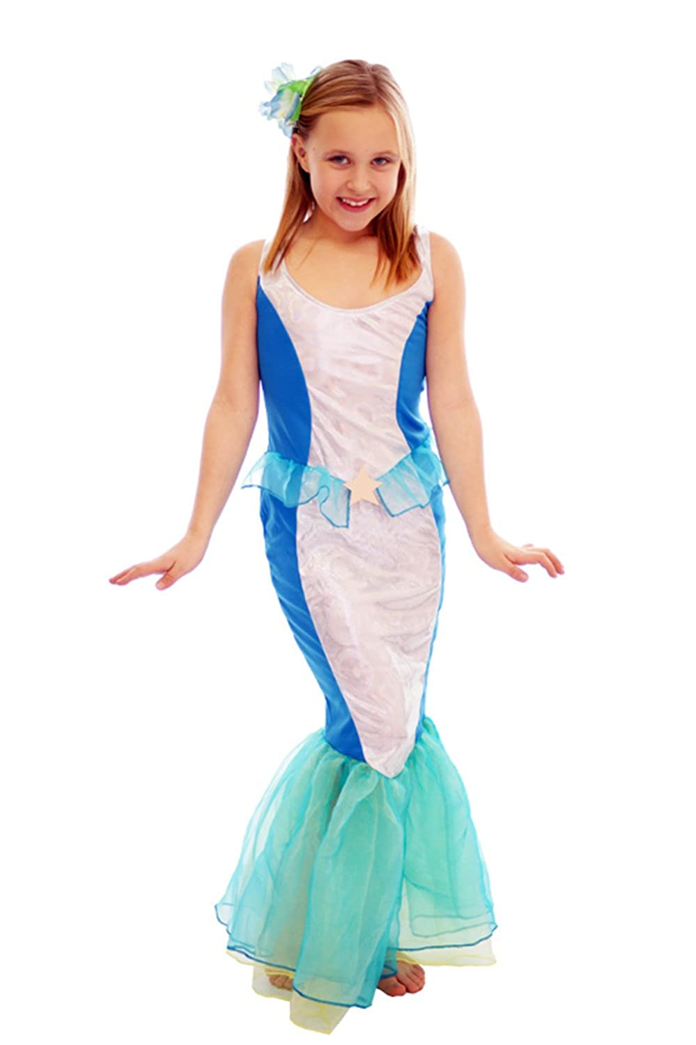 Amazon.com Mermaid of the Sea Girlu0027s Fancy Dress Costume Ages 7-9 Years Toys u0026 Games  sc 1 st  Amazon.com & Amazon.com: Mermaid of the Sea Girlu0027s Fancy Dress Costume Ages 7-9 ...