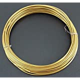 1 x 6m 6 Metre Roll of GOLD Aluminium Beading Threading Wire 2mm Thick - Craft Floristry Jewellery Making Beading Bracelets - Beads and Charms
