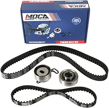 Compatible for 1997 1998 1999 Acura CL//1994 1995 1996 1997 1998 1999 2000 2001 2002 Honda Accord OCPTY Timing Belt Kit Including Timing Belt Water Pump with Gasket tensioner Bearing etc