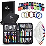 Sewing Kit, Over 125 most useful SEWING SUPPLIES, 5 Nylon Threads, 35 Needles, 38 Multi Color Thread Spools & 18 Sewing Pins - Mini Sewing Kit for Home, Office, Travel, Beginners & Sewing Emergency.