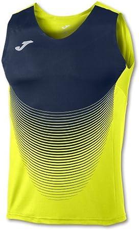 Camiseta de competición con efecto degradado en la parte delantera y estampado reflectante en la par