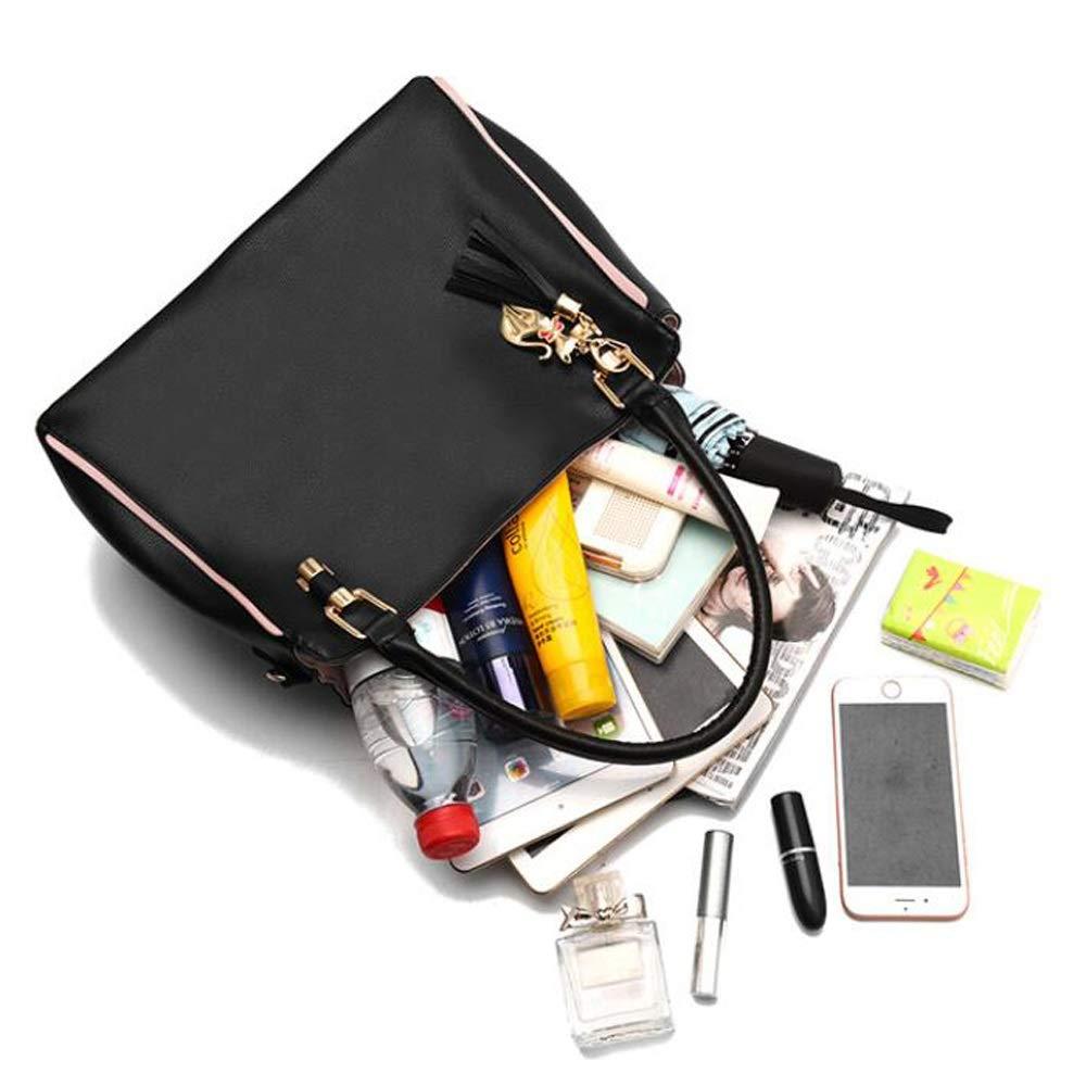 Ysswjzz Kvinnor crossbody väska, axelväska, handväska, blixtlåsficka, mobiltelefonväska, ID-väska, smörgåsdragkedja, datorficka, kameraficka, PU-material D
