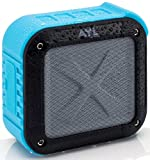 Portable Outdoor and Shower Bluetooth 4.1 Speaker by AYL SoundFit, Water Resistant, Wireless with 10 Hour Rechargeable Battery Life, Powerful Audio Driver, Pairs with All Bluetooth Device (Ocean Blue)