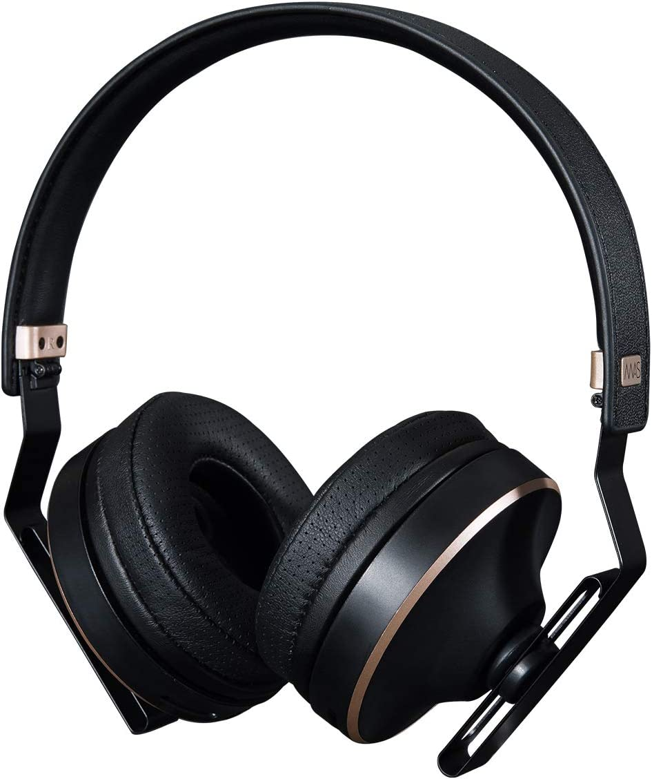 MAS X5h Studio Monitor Lightweight Foldable On Ear Headphones with MMCX Detachable Silver Plated Audio Cable, Inline Remote Cable with MEMS Microphone