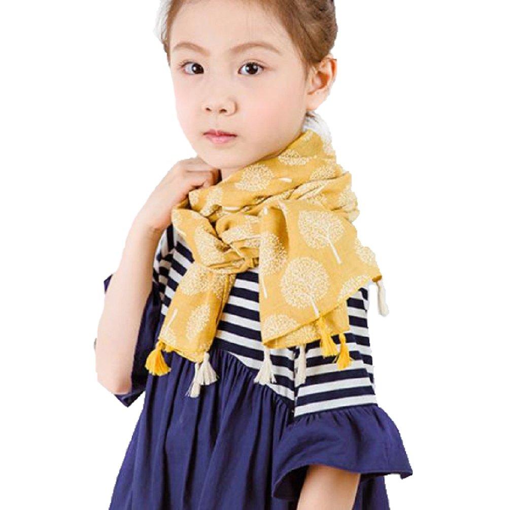 Bufandas Bebé, Xinan Infantil Pañuelos Algodón Niños Niñas Pañuelo Otoño Invierno (Amarillo) Xinxinshidai
