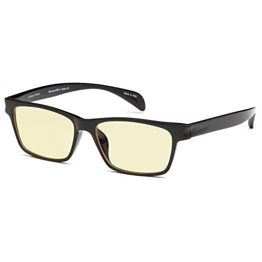 a80045f5d86 Amazon.com  GAMMA RAY 003 UV Glare Protection Amber Tinted Computer Readers  Glasses Anti Harmful Blue Rays in Shatterproof Memory Flex Frame - +0.00 ...