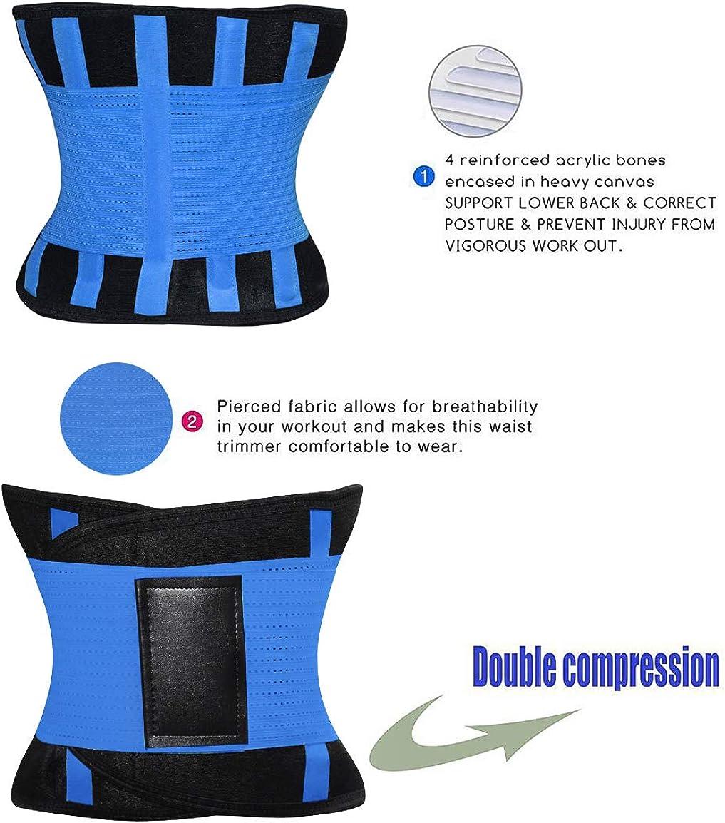 Sport Girdle Belt for Weight Loss HURMES Waist Trainer Belt for Women Waist Cincher Trimmer Slimmer Body Shaper Belt