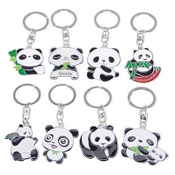 toymytoy 8pezzi llavero Panda Animal Colgante Keychain Clave ...