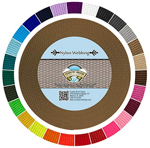 Country Brook Design | Nylon Webbing (Coyote Tan, 10 Yards, 3/4 Inch)