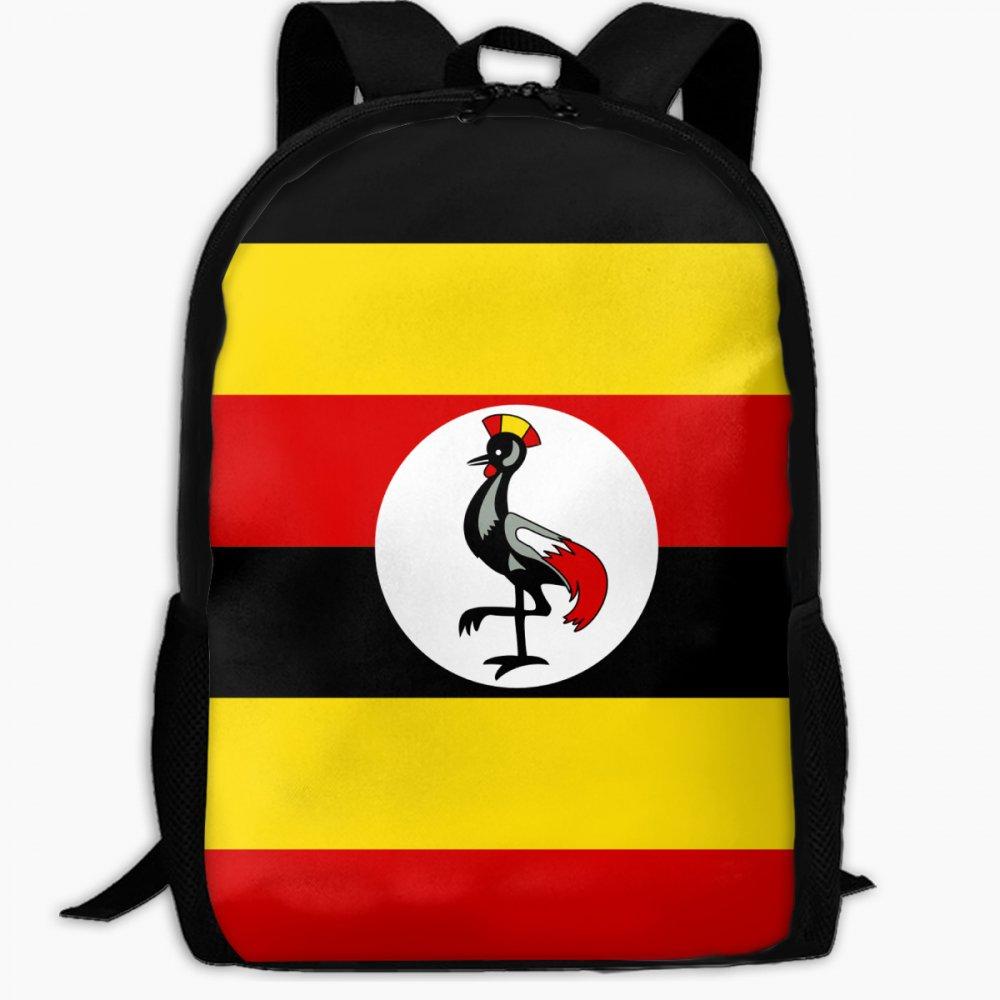 子供の学校バックパックの国旗ウガンダアウトドア旅行バックパック学生バックパックボーイズBook BagsユニセックスショルダーDaypack B07FVTZTKC