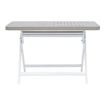 Youk Table de jardin rectangulaire pliable grise Gris ...