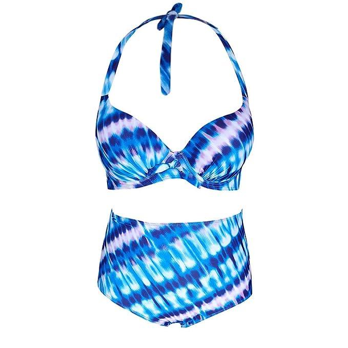 092b21914dc5 Amazon.com: AMSKY Women Swimwear Bikini Set Print Leaves Push-Up Padded  Bathing Swimsuit Beachwear Bathing Suit Swimwear: Clothing