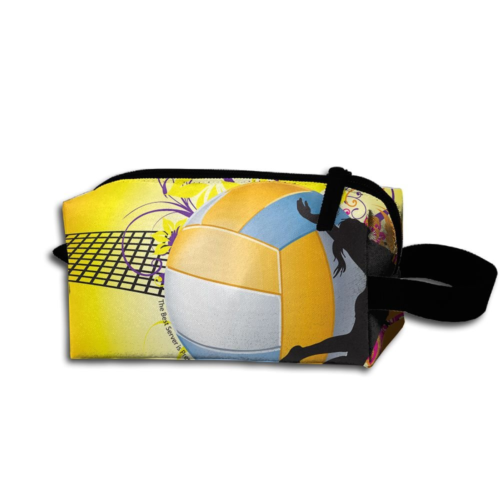 a7489bf2ac Amazon.com  Cosmetic Makeup Bag Volleyball Sport Pouch Toiletry Storage Bag  Portable Lightweight Travel Toiletry Bag for Women Girls  Home   Kitchen
