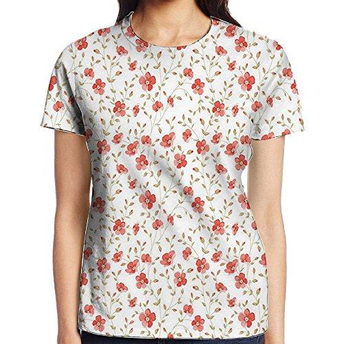 WuLion Luxurious Peony Vintage Style Flower Buds Bloom Summer Garden Artwork Women's 3D Print T Shirt XXL White - Peony Coffee Grinder